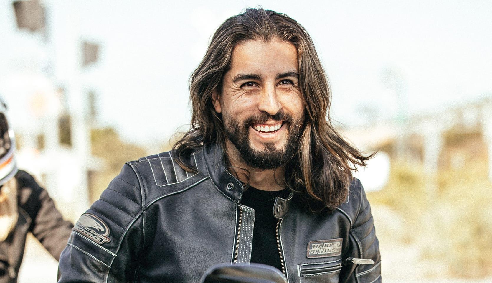 Harley-Davidson Rider Smiling