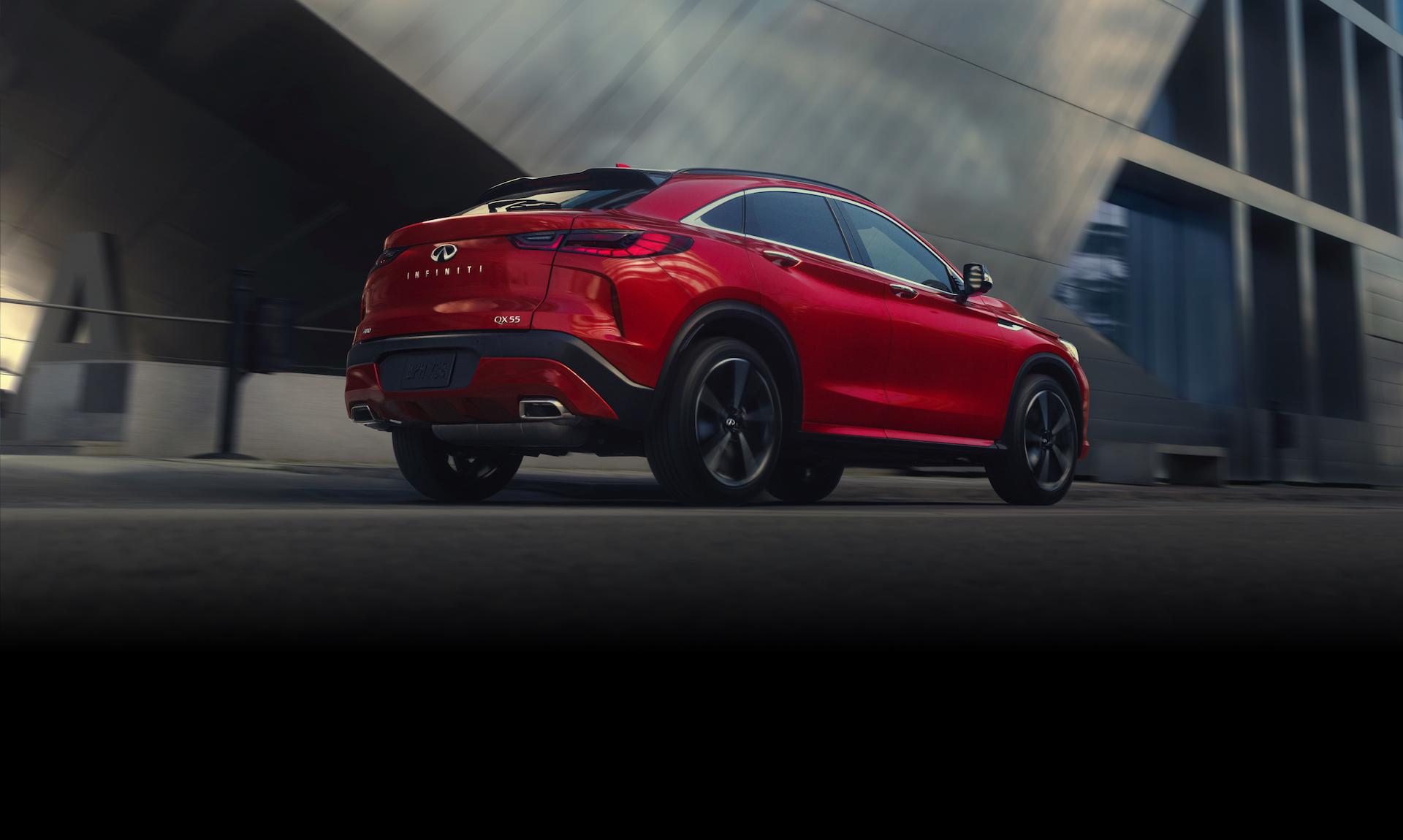 INFINITI QX55 red rear exterior