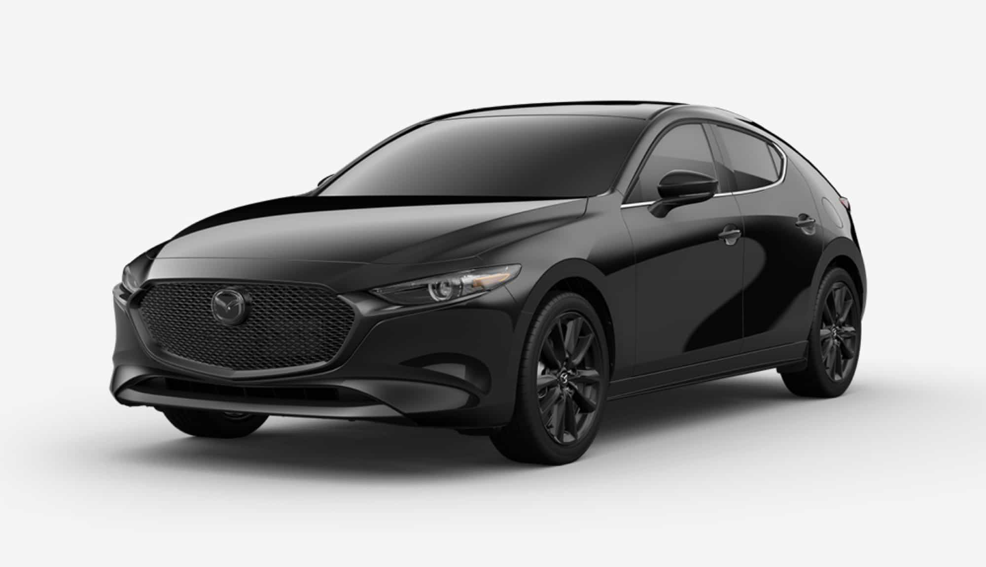 2020 Mazda3 Hatchback, Jet Black Mica