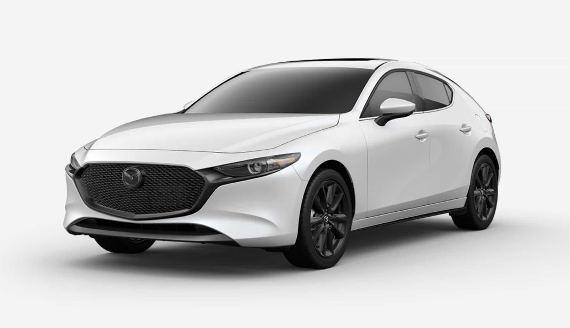 2020 Mazda3 Hatchback, Snowflake White Pearl Mica
