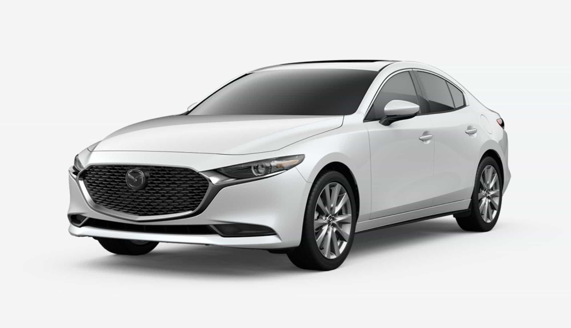 2020 Mazda3 Sedan, Snowflake White Pearl Mica