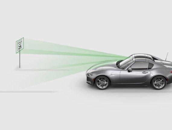 2021 Mazda MX-5 Miata RF, TRAFFIC SIGN RECOGNITION