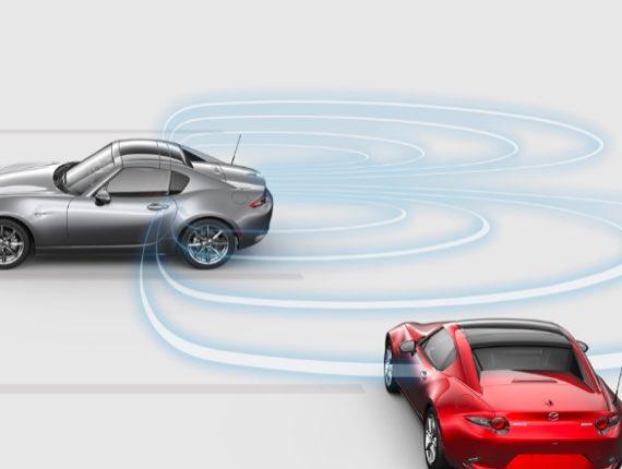 2021 Mazda MX-5 Miata RF, REAR CROSS TRAFFIC ALERT