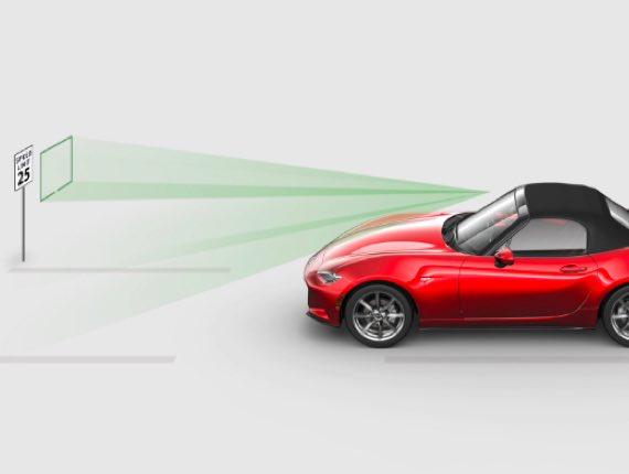 2021 Mazda MX-5 Miata, TRAFFIC SIGN RECOGNITION