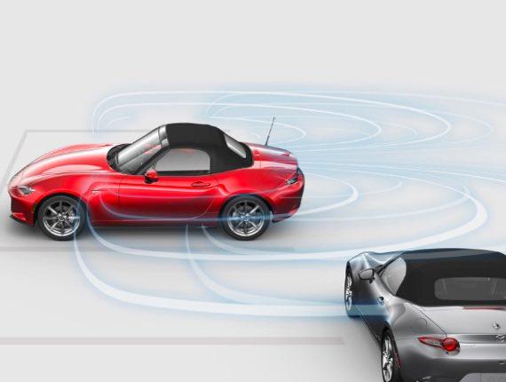 2021 Mazda MX-5 Miata, REAR CROSS TRAFFIC ALERT