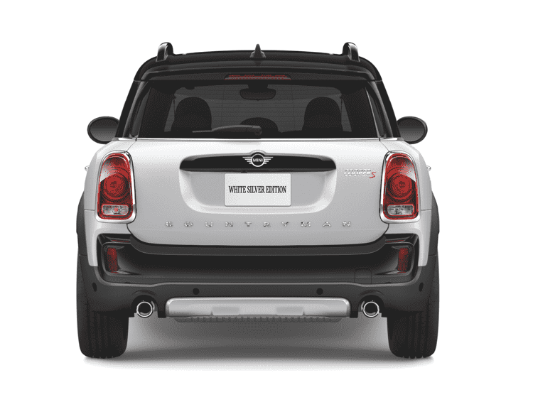 White Silver Countryman rear view
