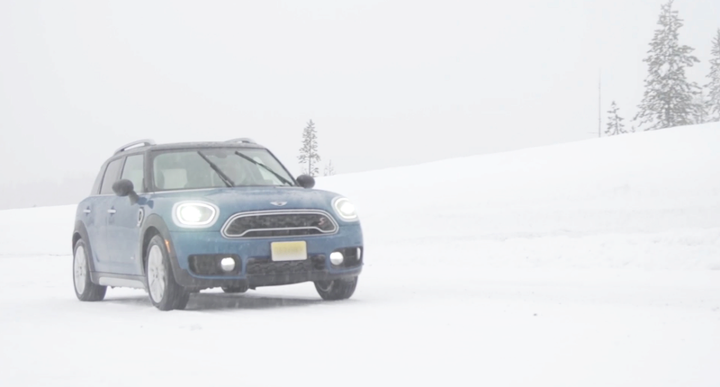 Blue Mini F60 in the Snow