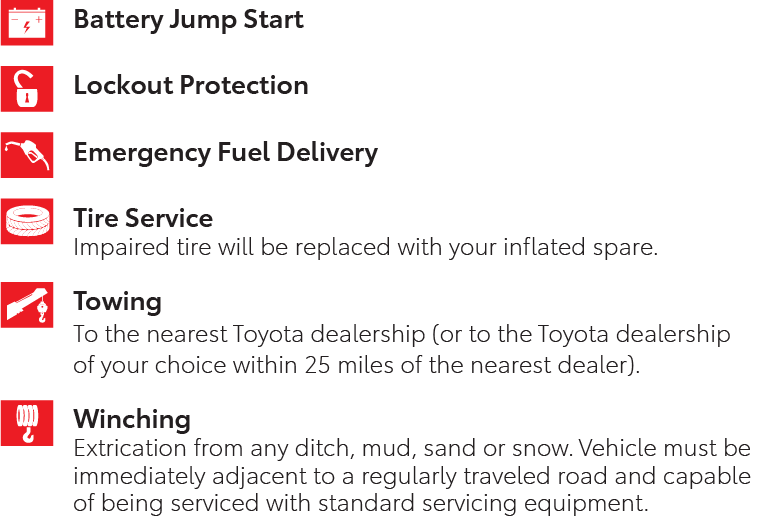 ToyotaCare 2 Year Roadside Assistance
